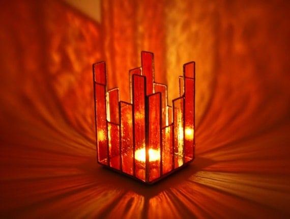 Glass Votive Candle Holder