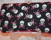 Punk Baby Skulls with Crystals Travel Wipes Case