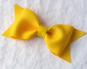 Yellow bow tie hair bow clip