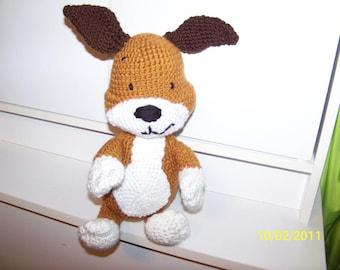 Crochet Kipper dog puppy dog ANY colors you want