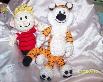 Crochet Cartoon Calvin and Hobbes  Tiger