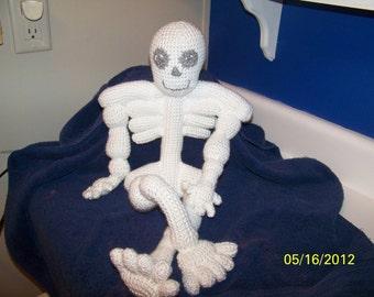 Skinny the crochet skeleton Get ready for Halloween
