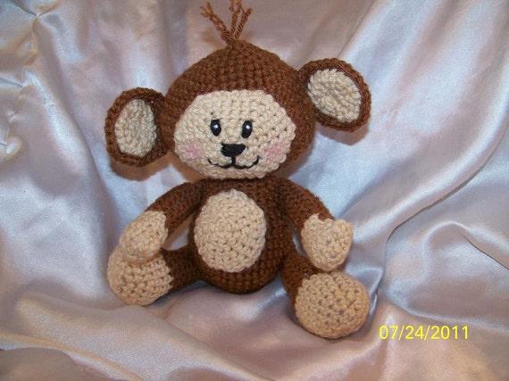 Amigurumi Yarn Eyes : Marco the crochet monkey with yarn eyes amigurumi by ...