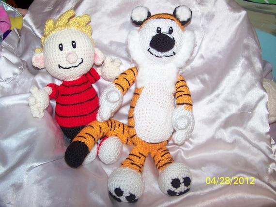 Crochet Cartoon Calvin and Hobbes  Tiger