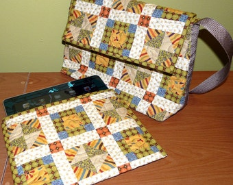 Quilted Messenger Bag with Removable iPad Sleeve - Pattern no. 503