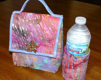Quilted Lunch Bag and Beverage Cozy - Pattern no. 508