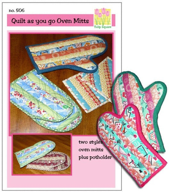Quilted Oven Mitts and Potholders - Pattern no. 506 from TulipSquare on Etsy Studio