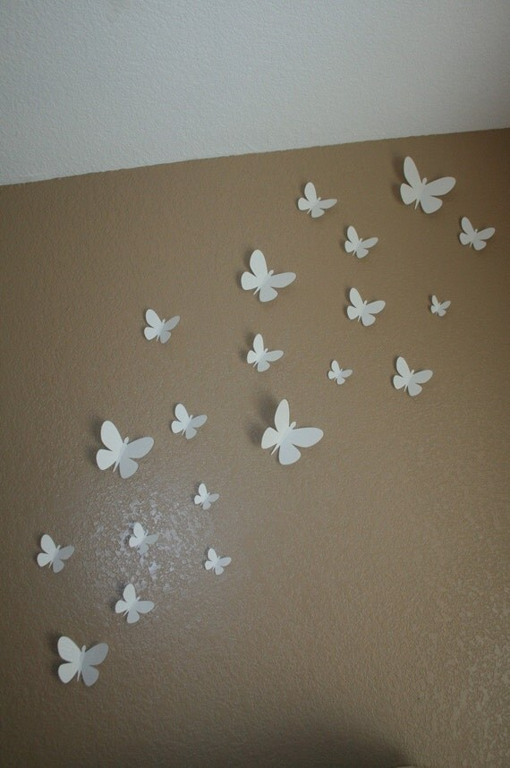 Etsy Butterfly Wall Decor : Items similar to d butterfly wall decor available in any