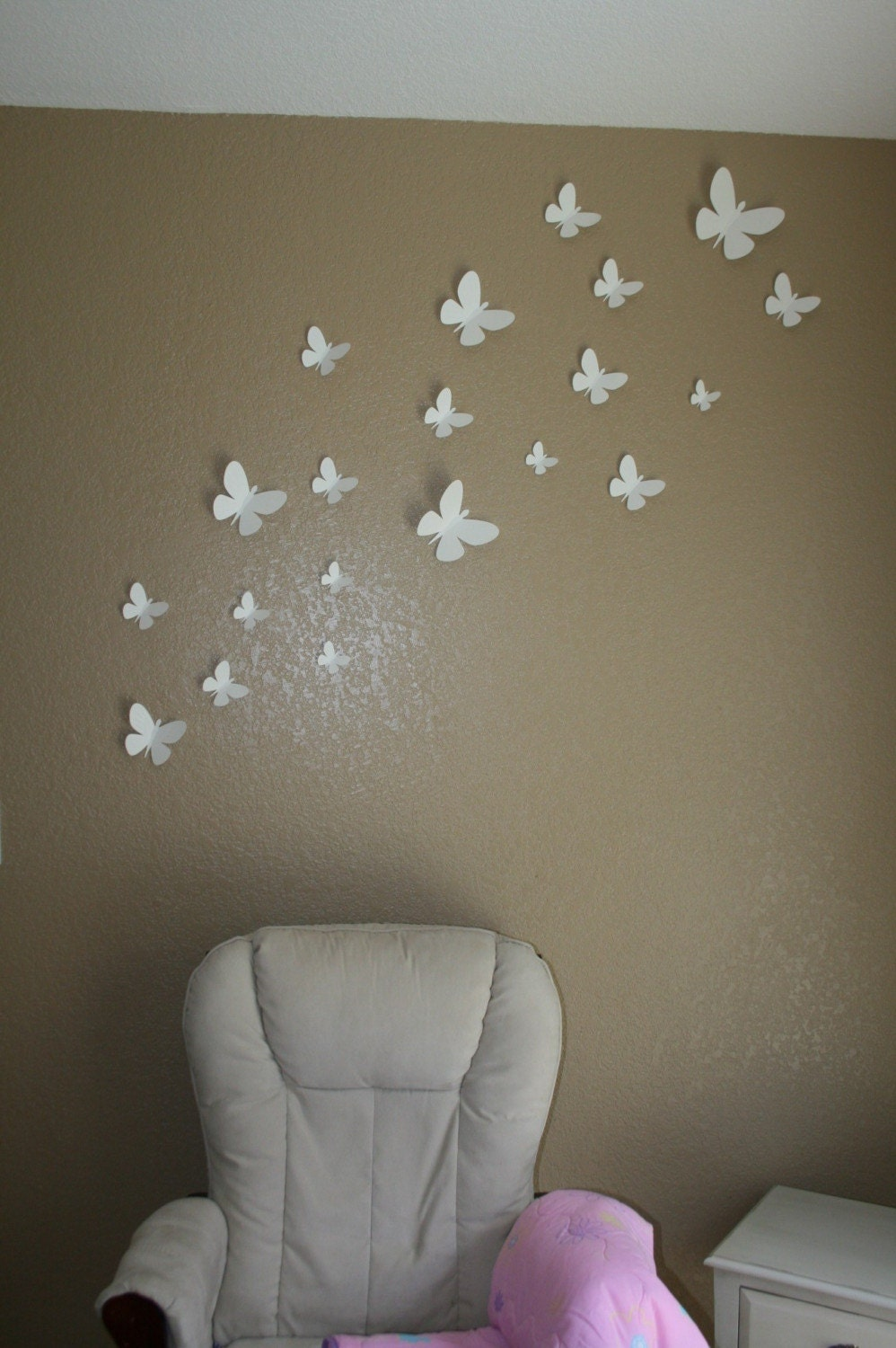 3d Wall Art For Contemporary Homes: 3D Butterfly Wall Decor Available In Any Color By