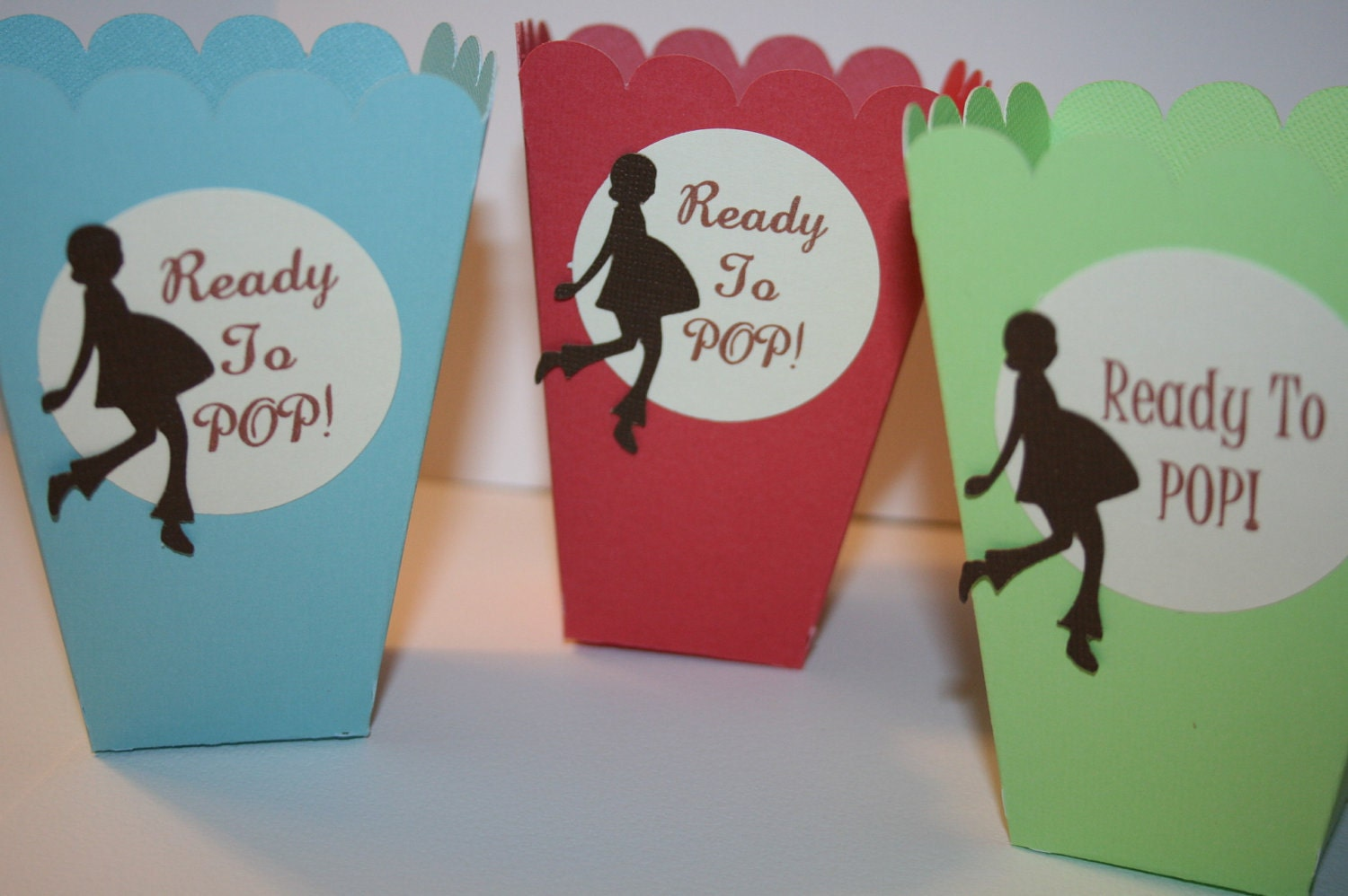 50 popcorn boxes ready to pop choose your by embellishedpaper