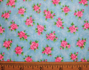 SSI Fabrics Fuzzytail Kittens & Pups by Lisa McCue in Blue Floral South Seas Imports- half yard