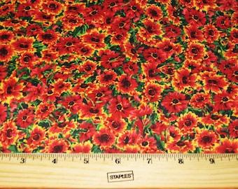 M'liss's Garden by M'Liss Rae Hawley for Jo-Ann Fabrics Floral Fabric - Sunflowers  - half yard