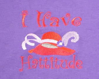 Red Hat T-shirt - I Have Hattitude