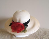 Reserved for Mugaboo 04/23/12 Vintage strawberry fields Marshall Field sun hat