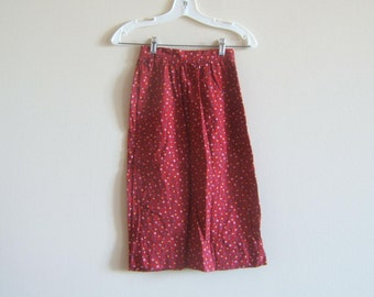 Vintage Skirt Red calico  xxsmall
