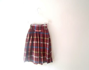 Plaid Cotton Skirt Youth