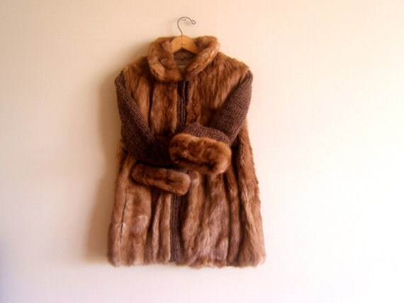 Mink Knit Sweater Coat 91
