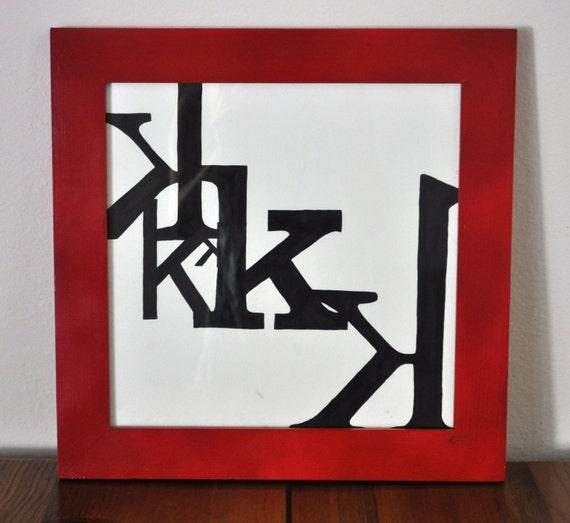 Kays (K's) - - - framed typography art