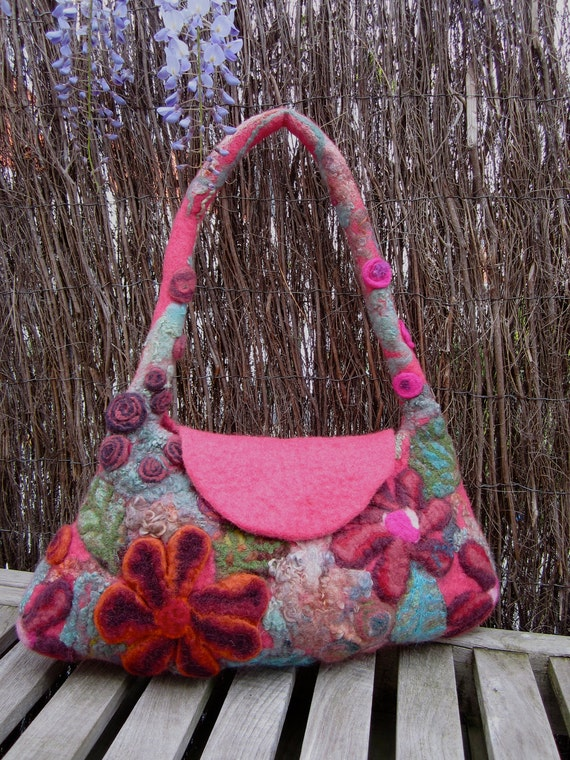 Liberty, felted bag