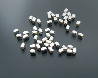 Sterling Silver 2 mm Faceted Cube Bead 25 pcs Sterling Silver Jewelry Supply