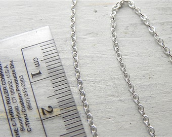 Sterling Silver 2mm x 2.5mm Link Chain Per One Foot Length Sterling Silver Jewelry Supply