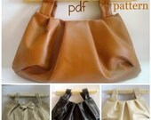 pdf Pattern Pleated Clutch bag with Wood Handles