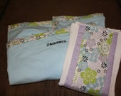 Personalized Baby Receiving Blanket and Burp Cloth to Match Your Hospital Maternity Gown from Mommy Moxie on Etsy