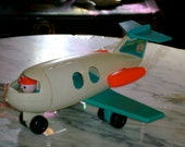 vintage 1970 1972 Fisher Price Little people airplane jet plane for the jet port ariport play set