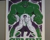 Gemini Comic Book Zodiac Poster