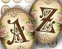 Victorian Alphabet Letters printable Digital Collage Sheets Cameo Ovals Jewelry Making Paper Supplies Altered Download (104)BUY 3 GET 1 FREE