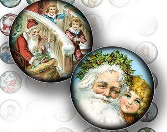 Victorian Christmas ephemera digital collage sheet bottle cap 1 inch circles jewelry making paper supplies instant (098) BUY 3 GET 1 FREE