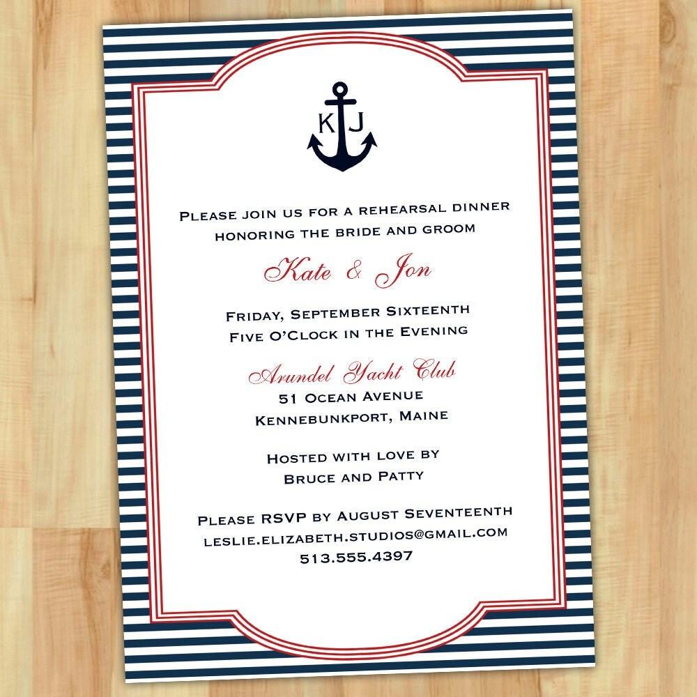 Nautical Invitation Wording as amazing invitations template
