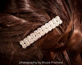 Wedding Hair, Bridal Barrette, Rhinestone Hair Clip, Crystal Barrette, Bridal Comb