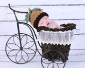 Crochet Acorn Hat Photography Prop Fall Photo