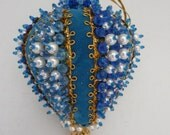 Vintage Sequin and Beaded Christmas Ornament