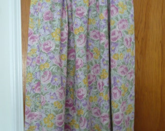 CLEARANCE - Vintage Pastel Cotton Skirt