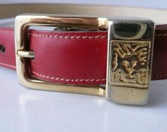 REDUCED - Women's Red Leather Anne Klein Belt