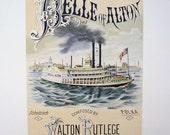 "Original Vintage Print ""The Belle of Alton"" from Mississippi Lime Co"
