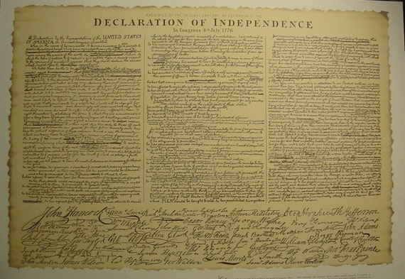 "Declaration of Independence"" large Print from Mississippi Lime Alton ...: https://www.etsy.com/listing/74229990/adeclaration-of-independence..."
