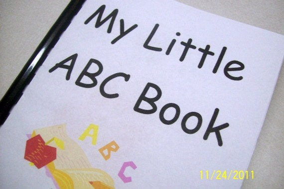 PRINTABLE My Little ABC Book - PDF eBook - Downloadable eBook
