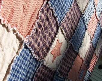 Rag Quilts Table Runners Country Primitive by KristinsCountryHome : king size country quilts - Adamdwight.com