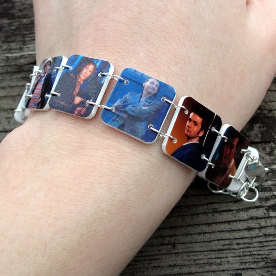 Doctor Who, faces of the Doctor bracelet
