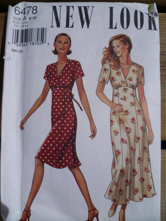 Empire Waist Dress Sewing Pattern Simplicity New By