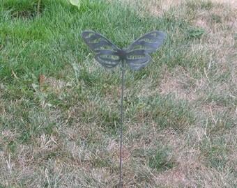 Beautiful Butterfly Garden yard art metal stake flower insect bug 2