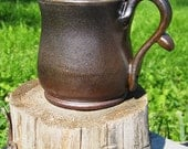 Brown/Black Salt Fired Mug