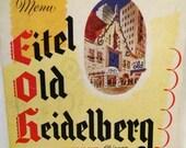 Eitel Old Heidelberg 1949 Chicago Restaurant Menu