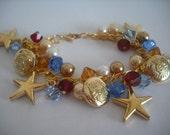 American Star Gold Crystal Bracelet