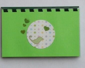 SALE ITEM Price is marked Handmade Little Birdy Blank Recipe Book