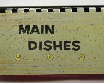 """SALE ITEM Price is marked/Handmade """"Main Dishes"""" Blank Recipe Book"""