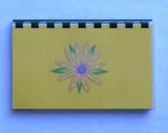 "SALE ITEM Price is marked/ Handmade ""Yellow Flower"" Blank Recipe Book"